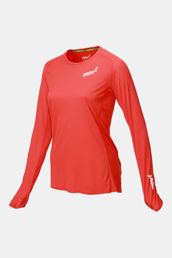 Inov-8 Base Elite LS Shirt Dames Rood