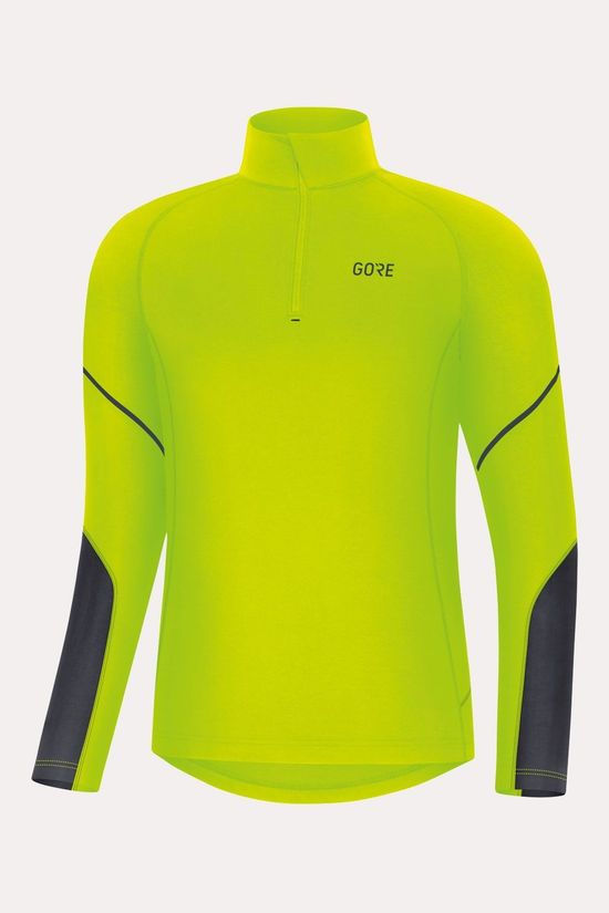 Gore Wear M Mid Long Sleeve Zip Shirt Middengeel/Zwart