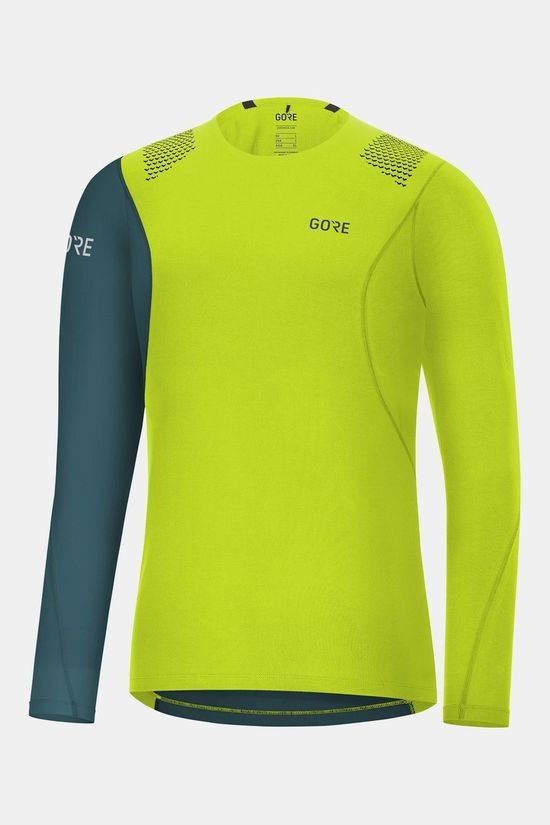 Gore Wear R7 Long Sleeve Shirt Lime/Petrol