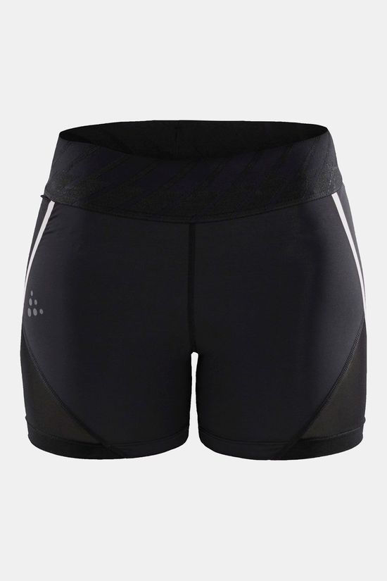 Craft Untmd Hotpants Dames Zwart/Lichtroze