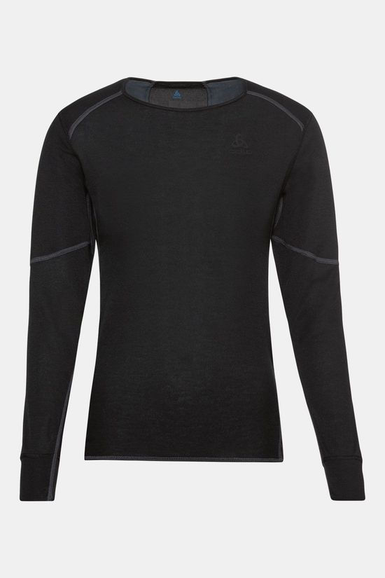 Odlo Bl Top Crew Neck L/S Active X-Warm Eco Dames Zwart/Donkergrijs