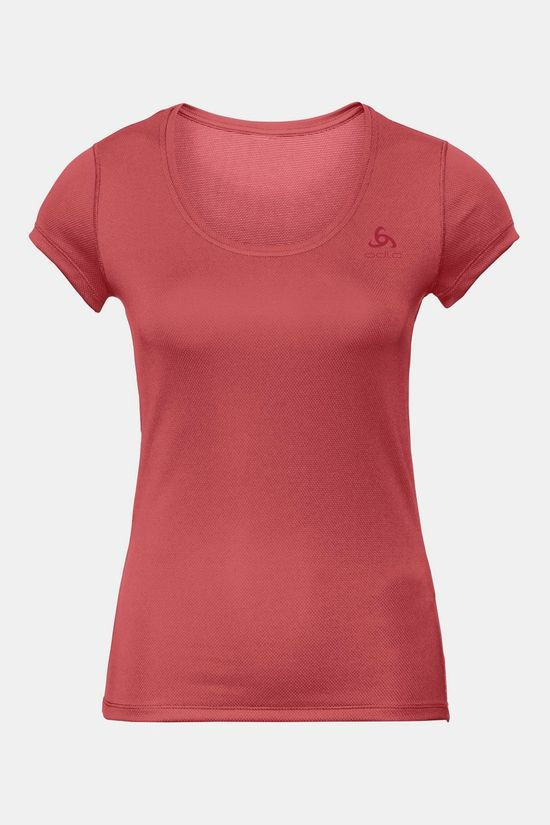 Odlo Active F-Dry Light Shirt Dames Donkerroze