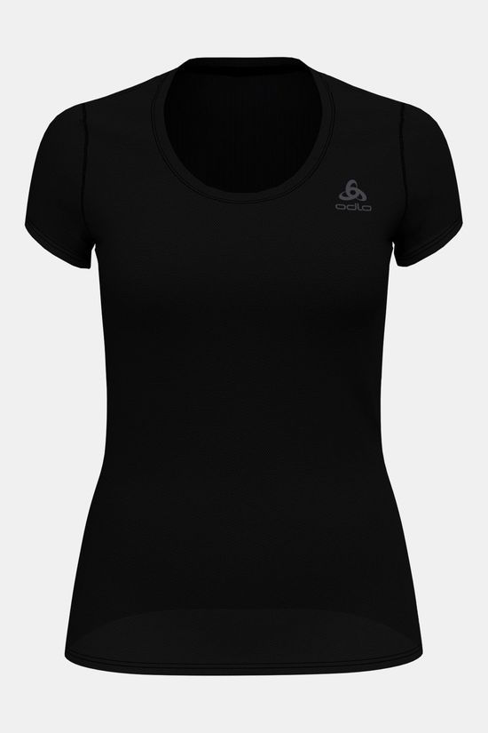 Odlo Active F-Dry Light Shirt Dames Zwart/Donkergrijs