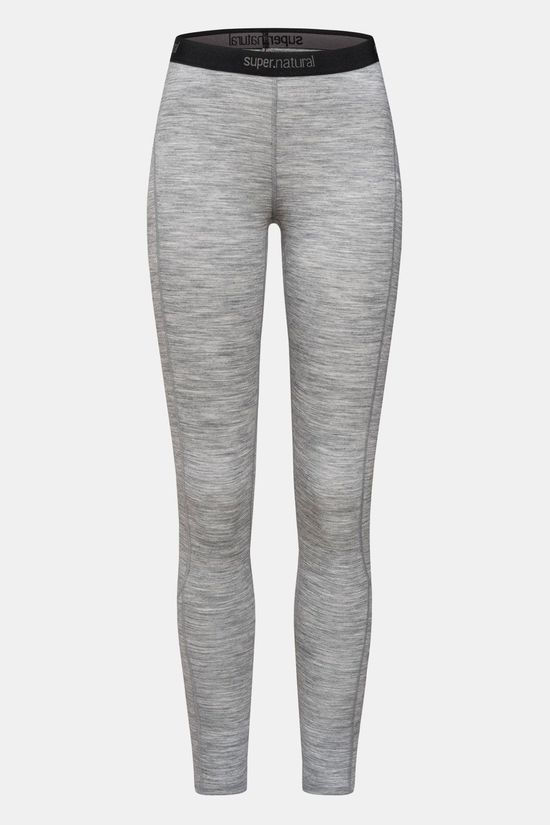 Supernatural Base 175 Legging Dames Lichtgrijs Mengeling