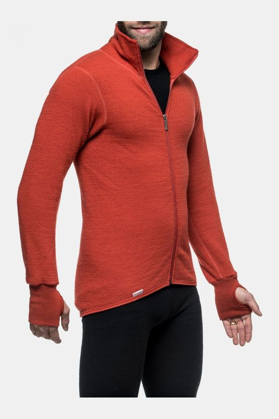 Woolpower Full Zip Jacket 400 Unisex Midlayer Middenrood