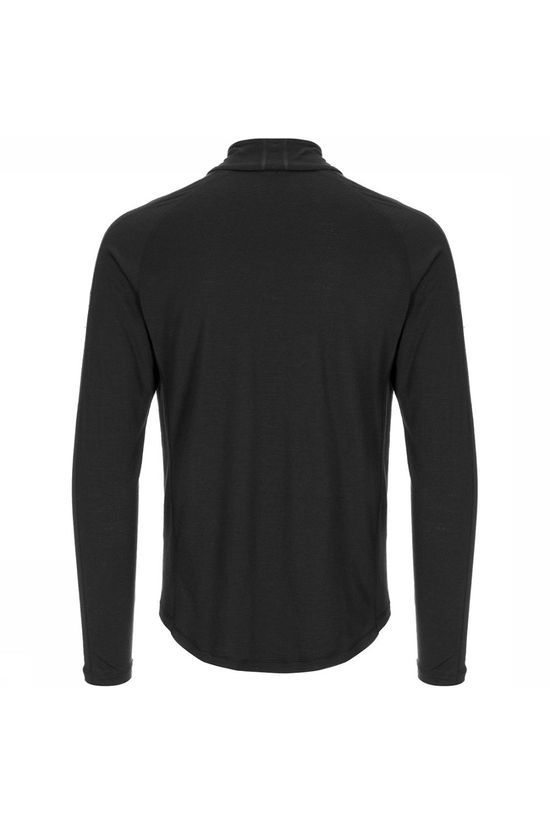 Supernatural Base 1/4 Zip 175 Shirt Zwart/Donkergrijs