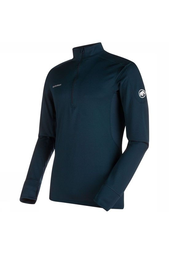Mammut Go Warm Zip Shirt Marineblauw