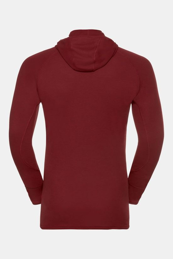 Odlo Active Revel with Facemask Shirt Bordeaux/Rood