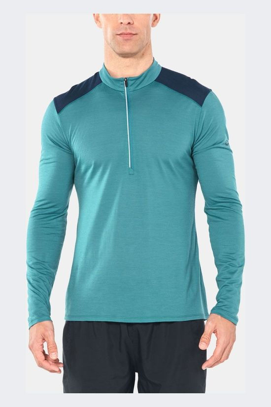 Icebreaker Amplify Long Sleeve Half Zip Shirt Petrol