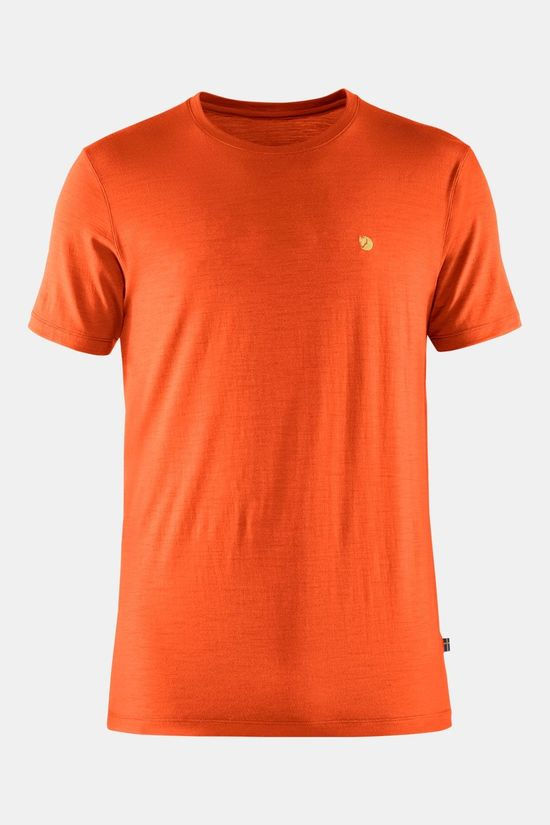 Fjällräven Bergtagen Thinwool T-Shirt Short Sleeve Oranje