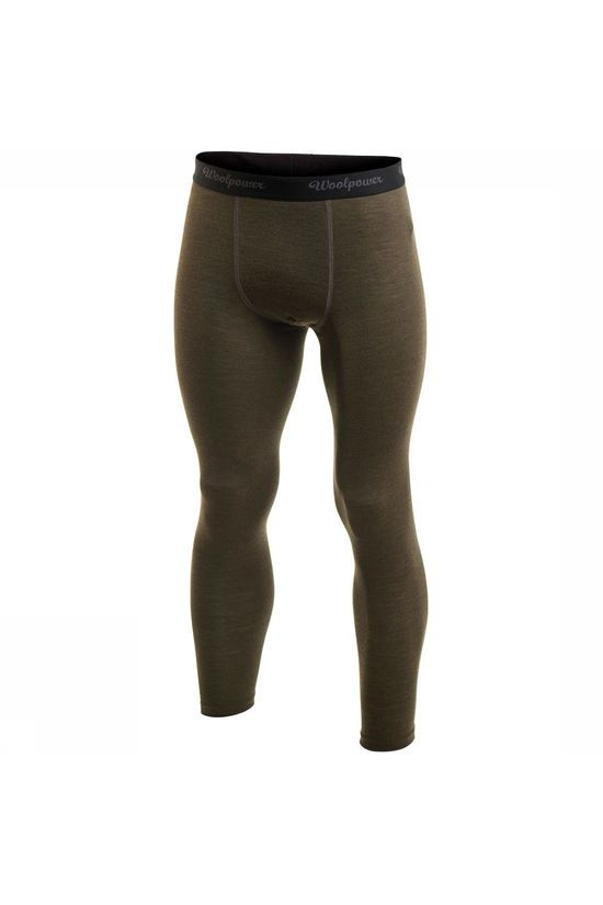 Woolpower Long John Lite Baselayer Legging Donkergroen