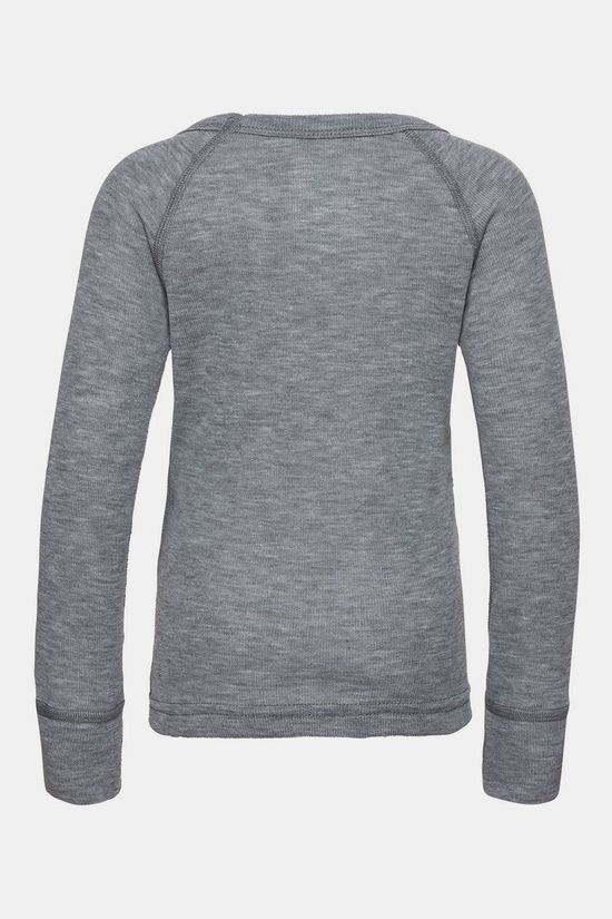 Odlo Crew Neck Warm Trends Shirt Junior Lichtgrijs Mengeling