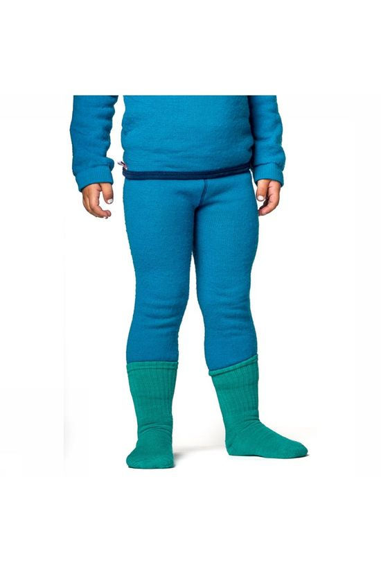 Woolpower Long John 200 Baselayer Broek Junior Lichtblauw
