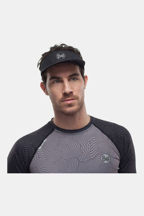 Buff Pack Run Visor R-Solid Black Zonneklep Zwart