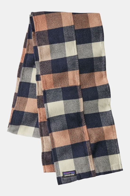 Patagonia Fjord Flannel Patchwork Sjaal Middenroze/Blauw