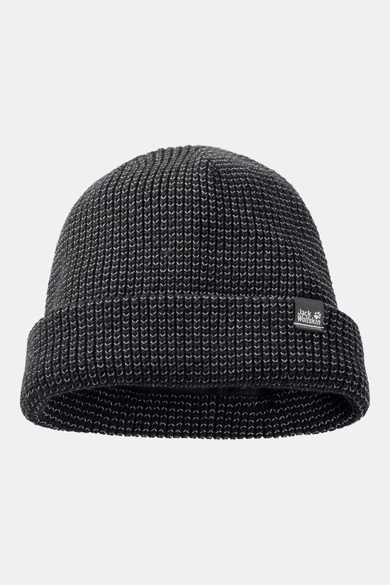 Jack Wolfskin Night Hawk Cap Reflecterende Muts Zwart