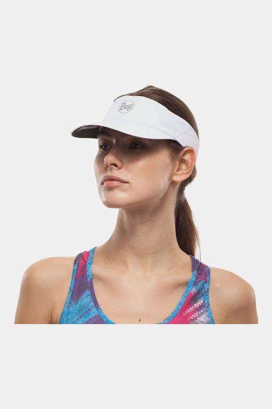 Buff Visor R-Solid White Wit