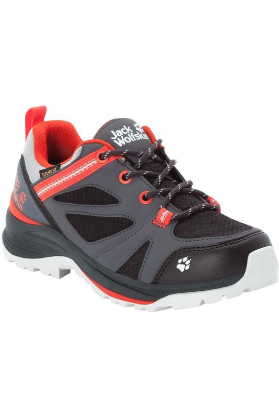 Jack Wolfskin Force Striker Texapore Low Wandelschoenen Junior Donkergrijs/Oranje