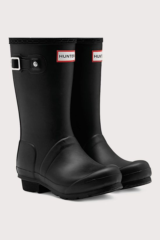 Hunter Original Regenlaars Junior Zwart
