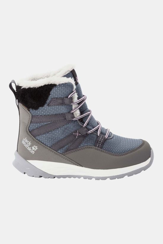 Jack Wolfskin Polar Wolf Texapore High Schoen Junior Lichtgrijs
