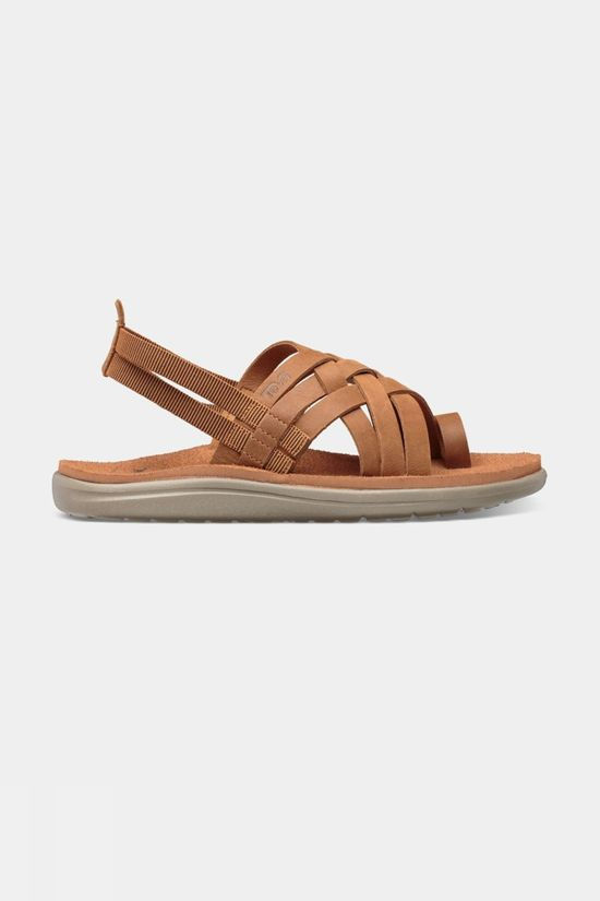 Teva Voya Strappy Leather Dames Bruin