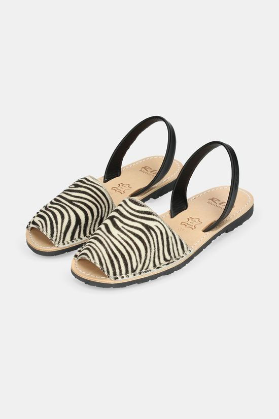 Ria Menorca Animal Prints Sandaal Dames Zwart/Wit