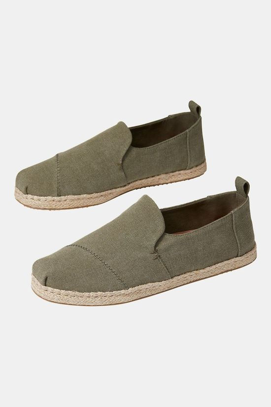 Toms Deconstructed Alpargata Rope Sandaal Canvas Middengroen