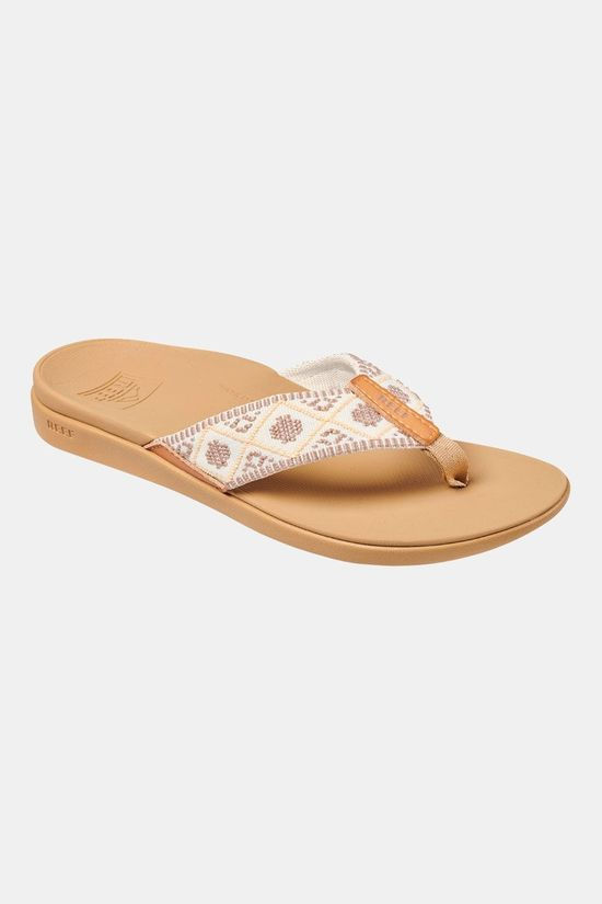 Reef Ortho Bounce Woven Dames Slippers Bruin/Wit