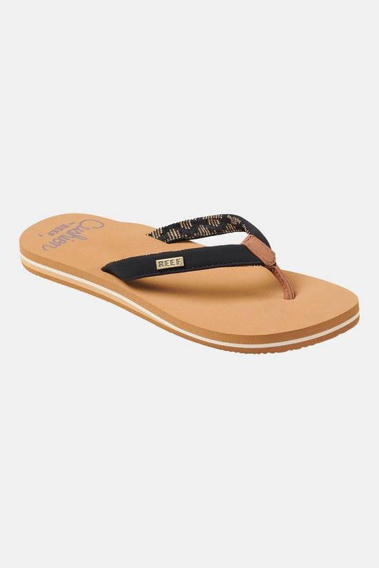 Reef Cushion Sand Slipper Dames Lichtbruin/Zwart