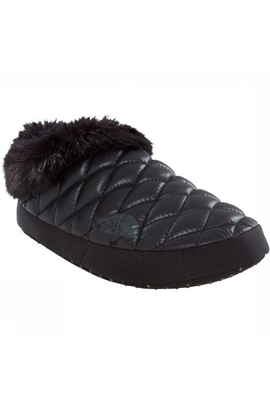 The North Face Thermoball Tent Mule Faux Fur IV Pantoffel Dames Zwart/Donkergrijs