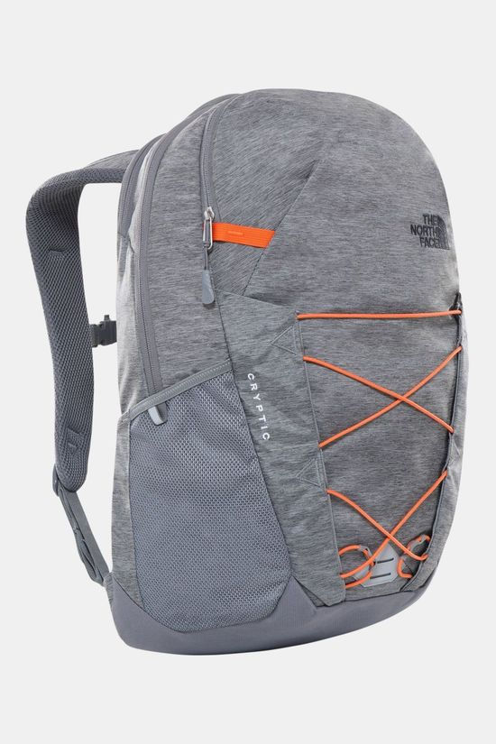 The North Face Cryptic Rugzak Lichtgrijs Mengeling/Oranje