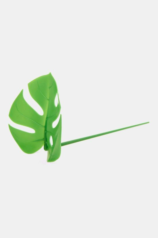 Kikkerland Monstera Leaf Food Picks Groen/Zwart