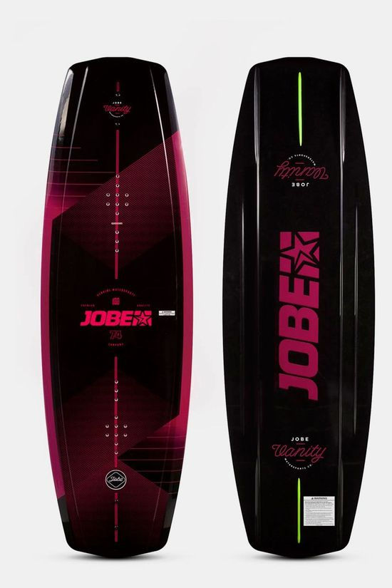 Jobe Vanity Wakeboard Dames 131 & Unit Bindings Bundel Zwart/Bordeaux