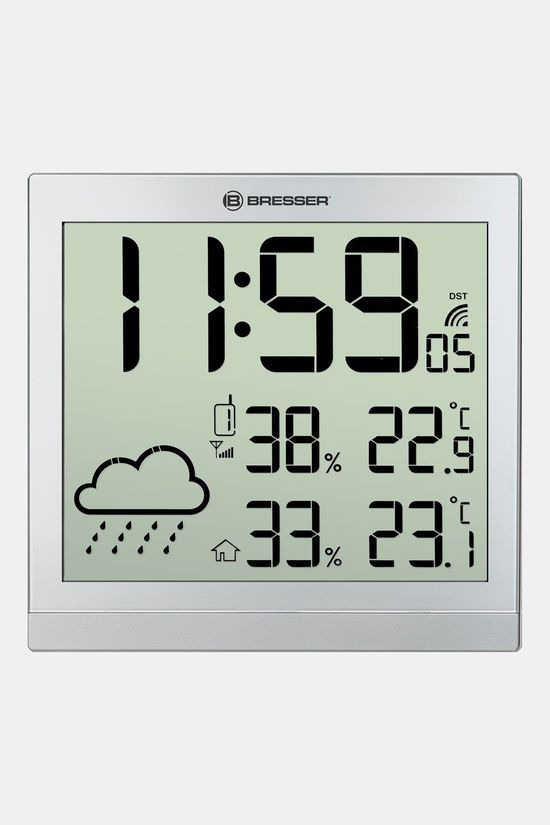 Bresser Lcd Weather-Clock Temeotrend Jc Zilver