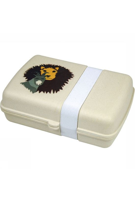Zuperzozial Lunchtime Lion Lunchbox Wit/Geel