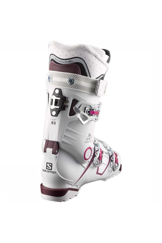 Salomon Quest Pro 80 Skischoen Dames Wit/Middenroze