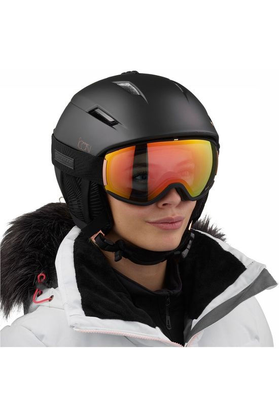 Salomon Icon² C. Air Skihelm Dames Zwart