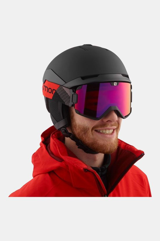 Salomon Quest Custom Air Skihelm Zwart/Donkergrijs