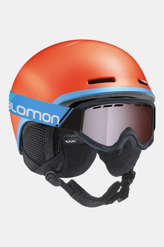 Salomon Grom Skihelm Kind Oranje/Blauw