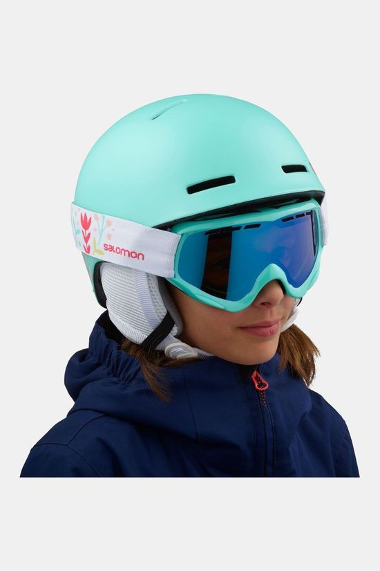 Salomon Grom Helm Junior Turkoois