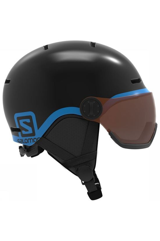 Salomon Grom Visor Helm Junior Zwart