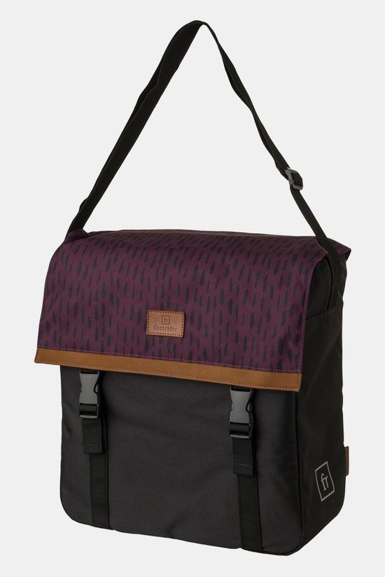 Fastrider Nara Shopper Fietstas Trend Forest Fruit Zwart/Donkerrood