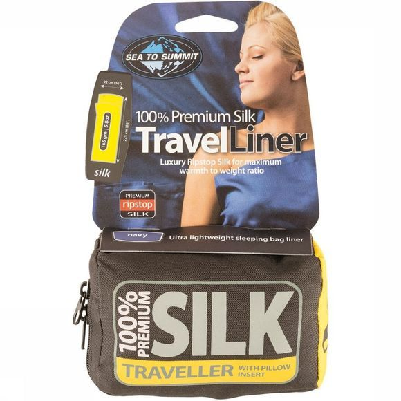 Sea To Summit Silk Liner Traveller Lakenzak Geen kleur