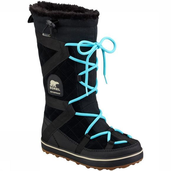 Sorel Glacy Explorer Winterlaars Dames Zwart