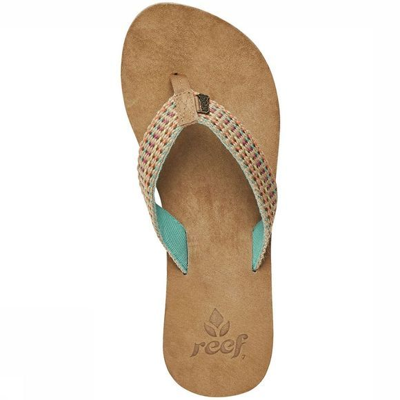 Reef Gypsy Love Slipper Dames Middenbruin/Turkoois