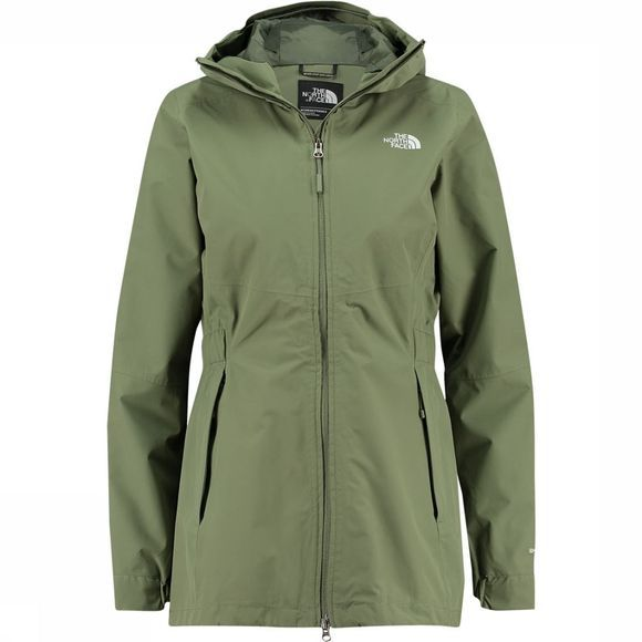 The North Face Hikesteller Parka Shell-Jas Dames Middenkaki/Groen
