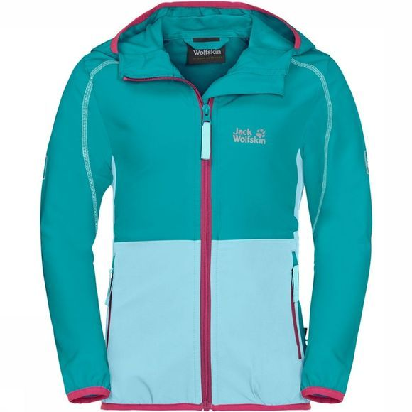 Jack Wolfskin Turbulence Girls Jas Junior Turkoois