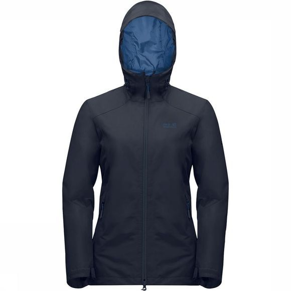 Jack Wolfskin Chilly Morning Jas Dames Donkerblauw