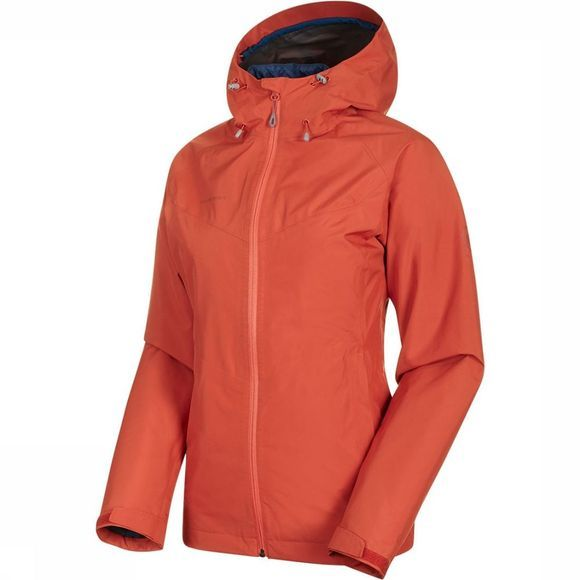 Mammut Convey 3-in-1 HS Hooded Jas Dames Middenrood/Petrol