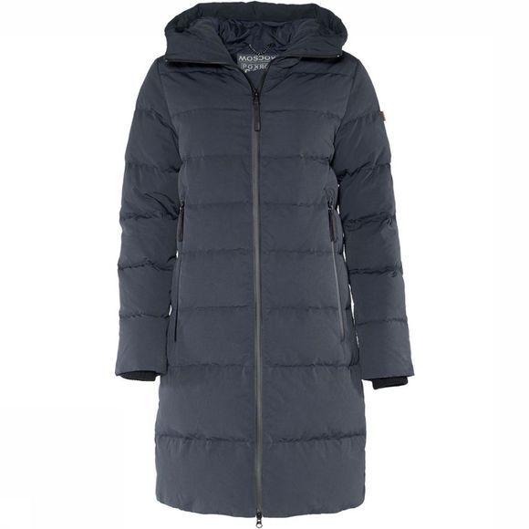 Moscow Long Coat Jas Dames Donkerblauw
